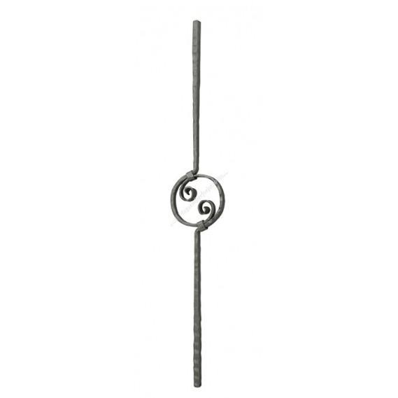 106/1 Balustru vertical fier forjat cu cerc central
