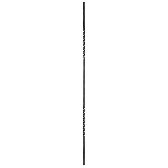 1148/8 Balustru verical fier rasucit capete 12x12mm H.1000mm