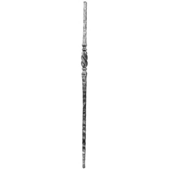 799/1 Stalp forjat 25x25 H.1100mm cu rasucire in zona centrala