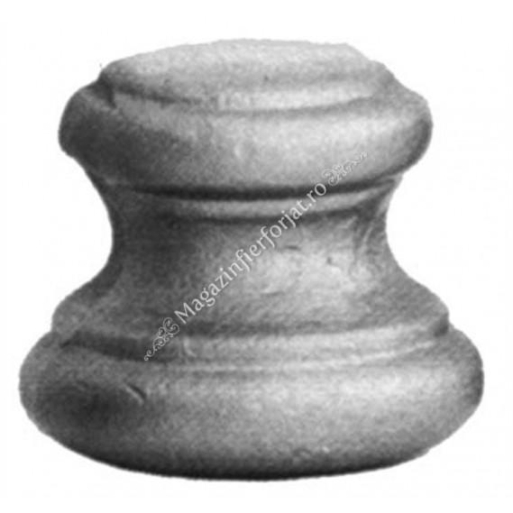 128/18 Pafta JUMATATE H.35mm D.38mm la mijloc, cu gaura rotunda D.14mm
