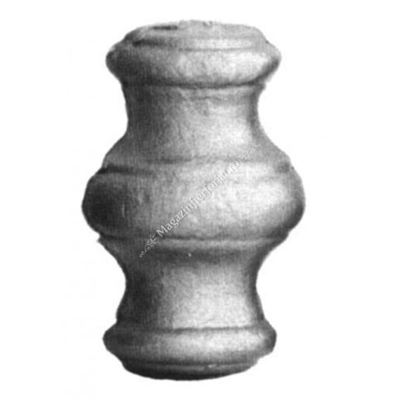 128/6 Pafta H.65mm D.40mm la mijloc, cu gaura rotunda D.12mm