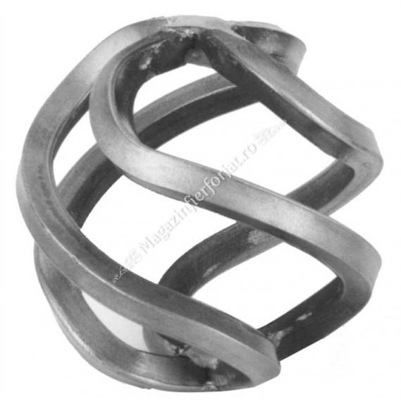 158/B/6 Cosulet sau bulb rotund cu 4 fire D.70mm