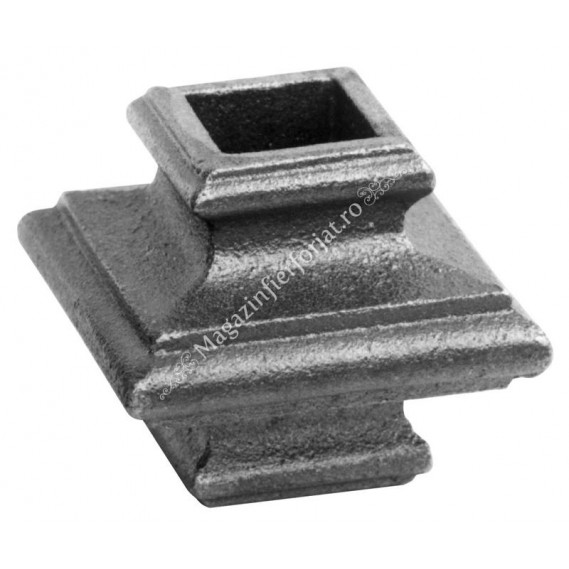 746/2 Pafta turnata din aliaj fier-fonta cu interiorul pentru patrat de 20x20mm cu H.50mm x L.55mm