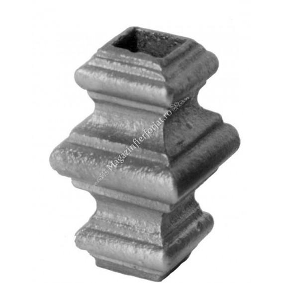 746/5 Pafta turnata din aliaj fier-fonta cu interiorul pentru patrat de 14x14mm cu H.65mm x L.40mm