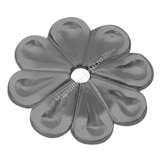 660/12 Floare fier forjat D=90mm G=4mm plata