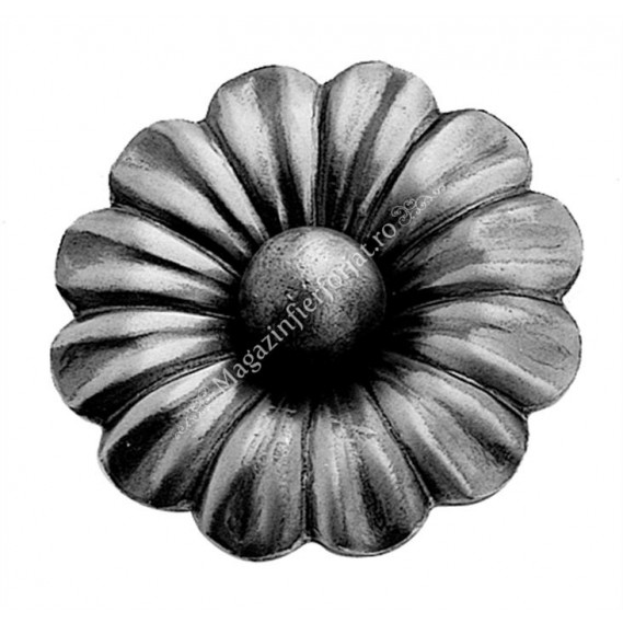 697/3 Floare D.95 cu grosime de 3mm si bila forjata in mijloc