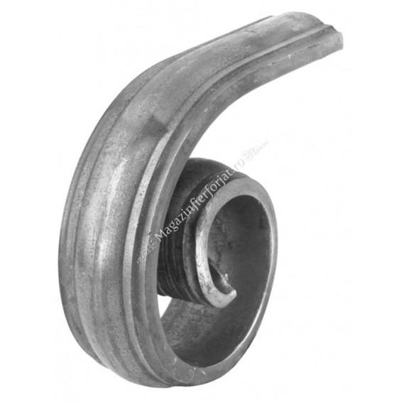 114/B/13 Terminatie in forma de MELC pentru mana curenta 114/A/3 cu H.150mm x L.125mm 47x16mm