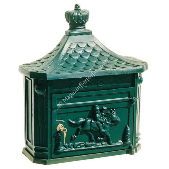 10301/2 Cutie postala turnata din aliaj fier-fonta antichizata cupru