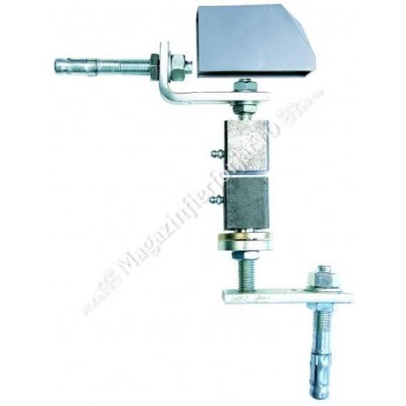 Pivot cu saiba aplicat pe stalp si sol pt. profil 40x40mm, reglabil superior si inferior