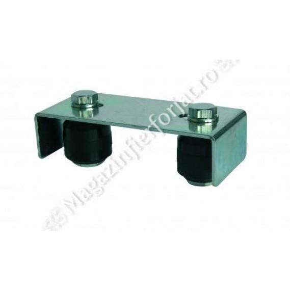 Ghidaj superior reglabil cu 2 role nailon, pentru profil 30-60mm