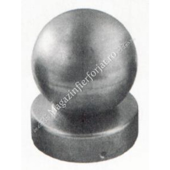 62.060.06 Capac pentru teava rotunda de D.60mm cu bila goala de D.60mm