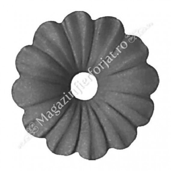 50.015 Floare tabla D=95mm G=2mm fier forjat