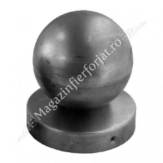 62.080.08 Capac pentru teava rotunda de D.80mm cu bila goala de D.80mm