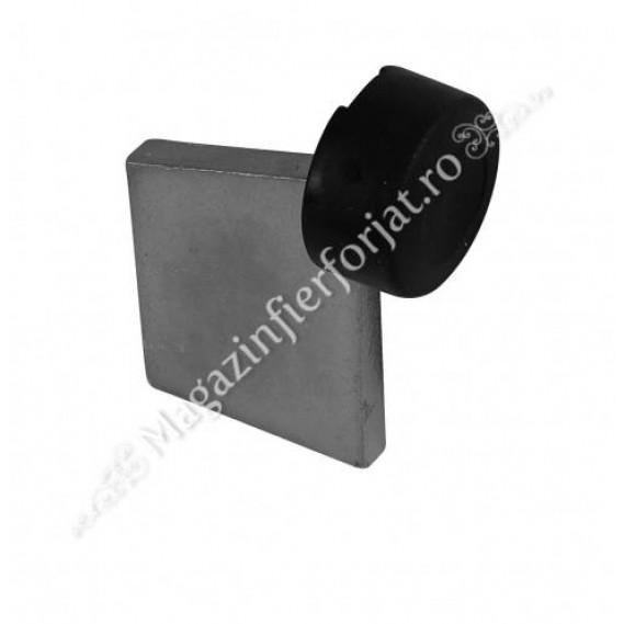 Opritor de poarta culisanta H.110mm, cu amortizor de cauciuc, sudabil pe sina de culisare sau pe alt suport