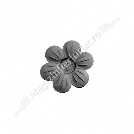 50.009 Floare fier forjat D=60mm G=3mm