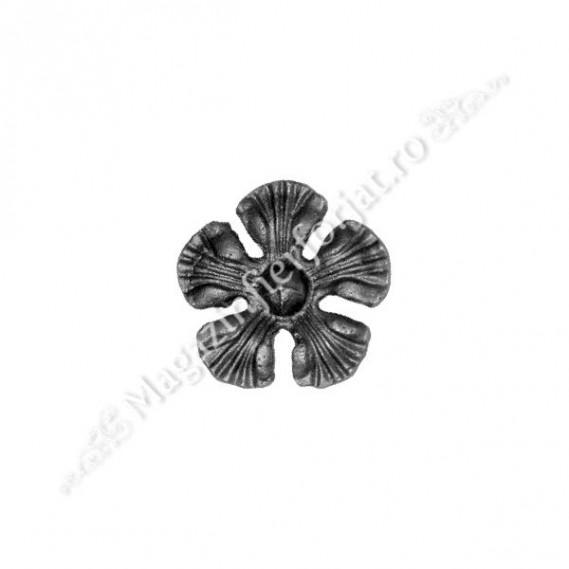52.133 Floare turnata D.85mm din aliaj fier-fonta