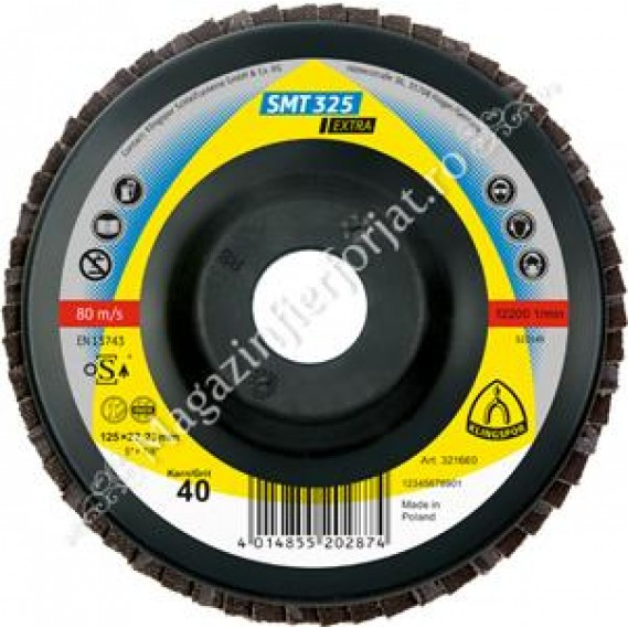 Disc de polizare 125 Gr.40 PLAT SMT325 KLINGSPOR