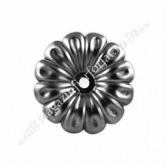 50.012 Floare amprentata cu D.120mm din tabla grosime 2mm