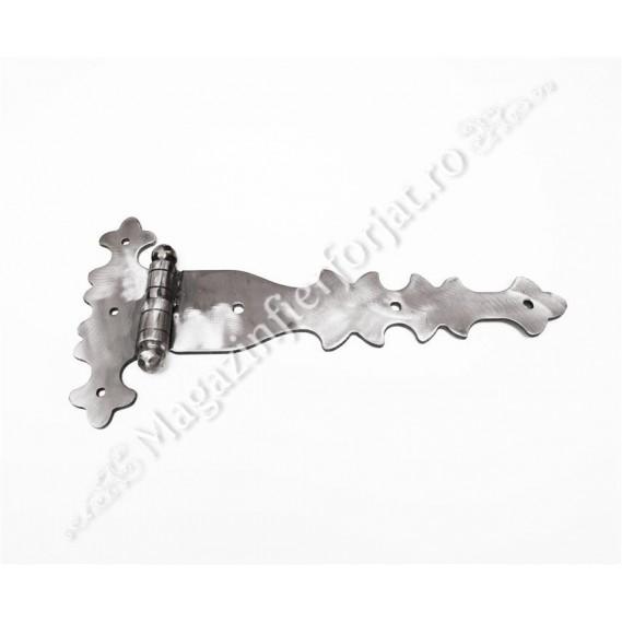 UNV91.2 Balama din fier forjat 420x205x5mm pentru poarta sau usa mare din lemn