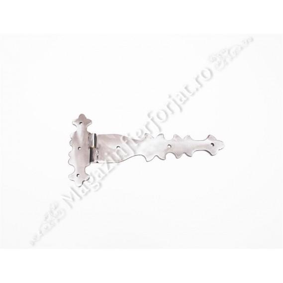 UNV91.1 Balama din fier forjat 310x153x5mm pentru poarta sau usa mare din lemn