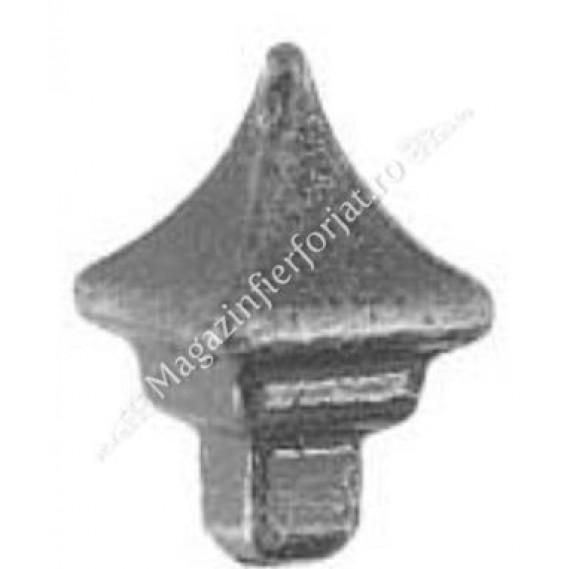 40.140 Varf conic H=57 mm L=38 mm 16x16mm