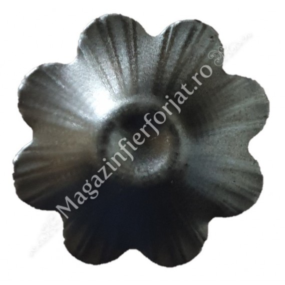 50.004.01 Floare stantata din tabla D.40 mm G.0,6mm fier forjat
