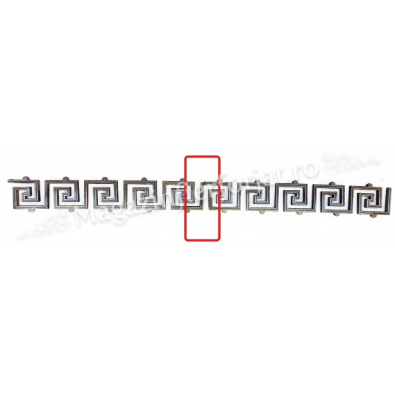 55.030 Ornament model GRECESC 500x100mm turnat din aliaj sudabil fier-fonta