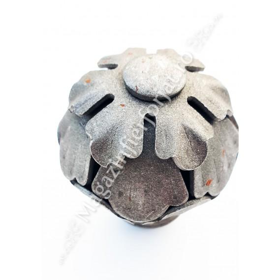 63.008 Maner fix fier forjat cu forma sferica D.65mm cu baza sudabila D.40mm, H.85mm