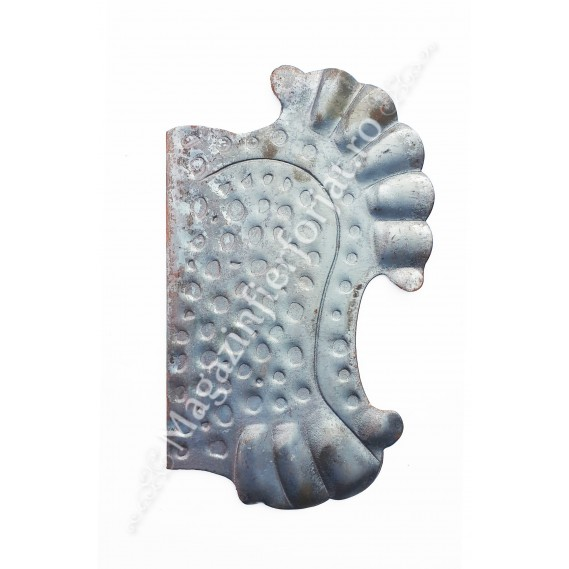 63.118 Placa de mascare pentru poarta 275x160mm din tabla forjata de 2.5mm pt. partea Dreapta