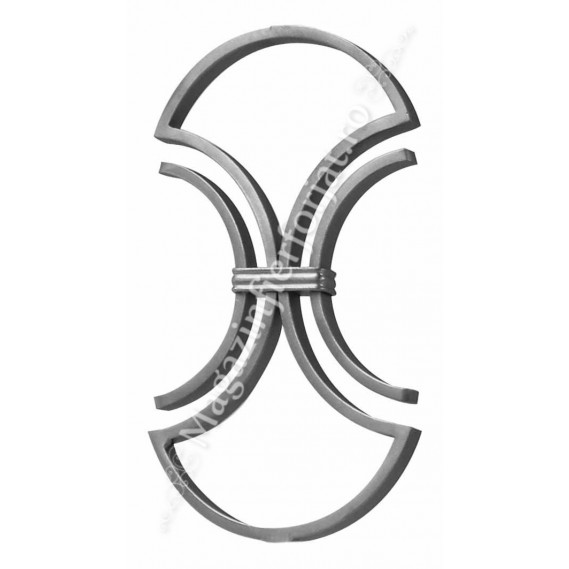 GD187/2 Panou ornamental cu semicercuri din colectia Gonzato Design 14x8mm H.325mm L.190mm