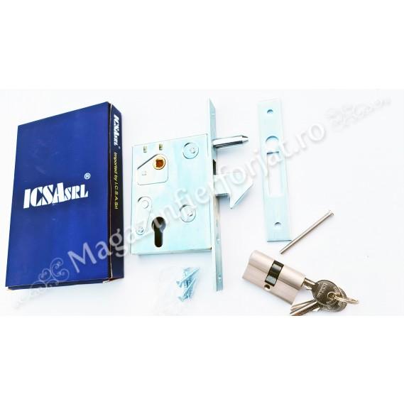 Broasca ICSA cu butuc si antiridicare pentru poarta culisanta, de incastrat in profil de maxim 40mm si in caseta antiploaie