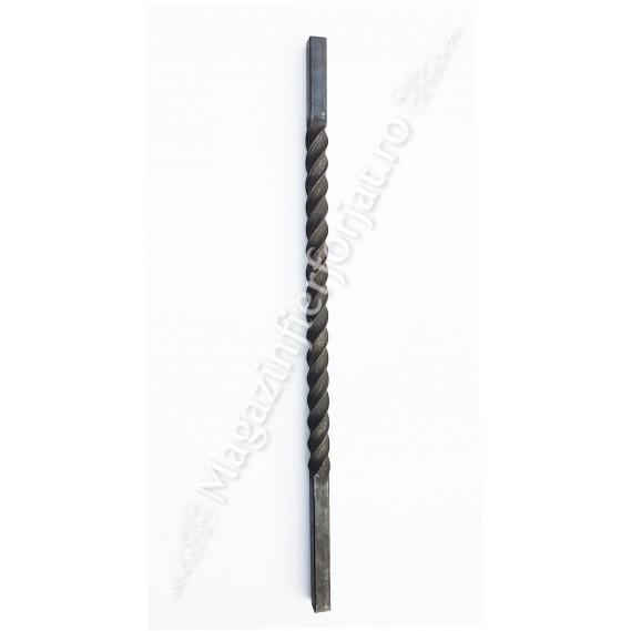 UNV71.3 Stalp de balustrada cu H.1000mm din fier PLIN 30x30mm rasucit pe o portiune de 600mm