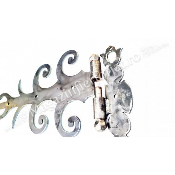 UNV91.4 Balama din fier forjat 630x270x5mm pentru poarta sau usa mare din lemn
