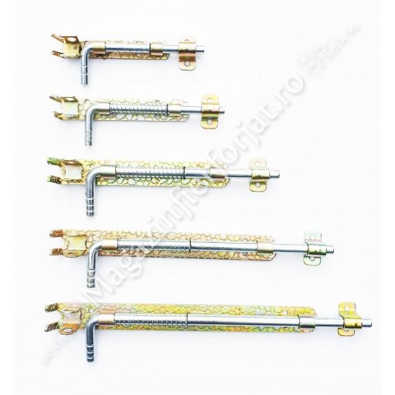 Zavor cu ARC din fier forjat Zincat cu L.250mm D.12mm si pregatire pentru lacat