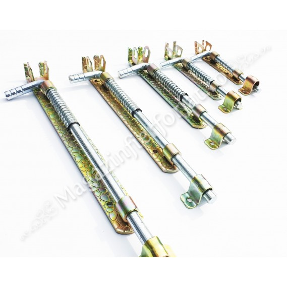 Zavor cu ARC din fier forjat Zincat cu L.200mm D.12mm si pregatire pentru lacat