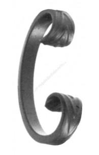 80/A/3 Ornament C forjat 110x60mm 12x6mm