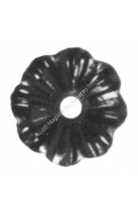116/A/4 Floare tabla D=65mm G=3mm fier forjat