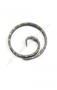 "UNV50.1.1 Cerc fier forjat ""Melcat"" D.100mm din platband 12x5mm amprentat pe cant"