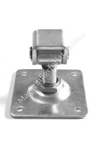 61.018 Balama reglabila M.16mm cu placa 80x80x3mm zincata galben
