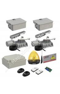 KIT automatizare poarta batanta Roger Technology Kit R21/351, 800Kg, 3.5ML/canat, 230Vac, casetat cu montaj in ascuns in pardoseala