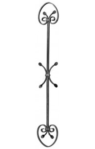 1122/1 Balustru vertical fier forjat cu C-uri