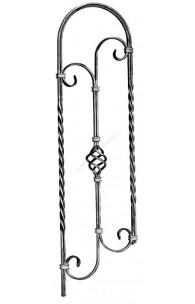 464/2 Balustru cu arcada, cosulet central, rasucit, panta