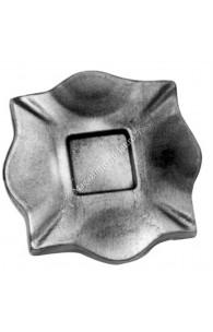 116/A/6 Placa de prindere stalp balustrada 100x100x10mm fara gaura turnata din OTEL