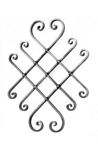 1658/1 Panou rozeta Extensibila cu articulatii forjate prinse in NIT-uri 440x580mm din 16x8mm neted