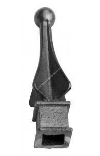 733/3 Varf turnat din FONTA H.110mm cu baza la interior gaura de 12x12mm si la exterior 23x23mm