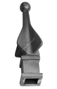 733/4 Varf turnat din FONTA H.110mm cu baza la interior gaura de 16x16mm si la exterior 25x25mm