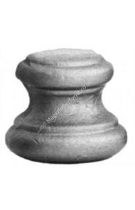 128/17 Pafta JUMATATE H.35mm D.38mm la mijloc, cu gaura rotunda D.12mm