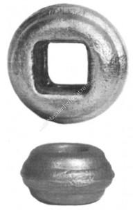 128/39 Pafta turnata din OTEL cu H.23mm si interiorul patrat 16x16mm