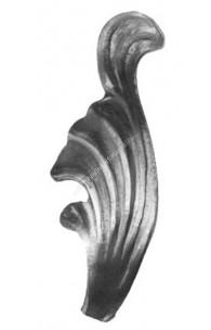 136/2 Frunza amprentata cu H.110mm din tabla de 3mm model partea dreapta
