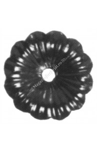 116/A/3 Floare tabla D=95mm G=3mm fier forjat